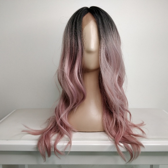 Accessories 20 Dark Roots To Pink Balayage Lace Wig Poshmark